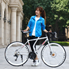 700c aluminum alloy road bike 21 27 and 30 speed road bicycle double disc brake road bike Ultra-light bicycle 4