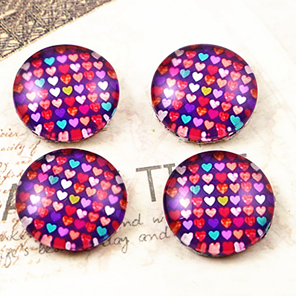 Hot Sale 20pcs 12mm Handmade Photo Glass Cabochons  (E1-01)