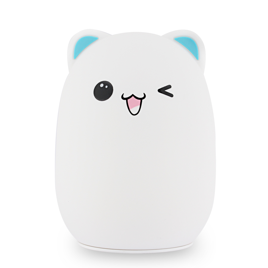 Silicone Touch Sensor Cartoon LED Night Light For Children's Night Light LED USB Children Animal LED RGB 24Key Remote Control