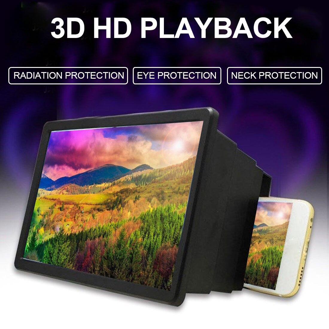 Portable Mobile Phone Screen Amplifier 3D Video Magnifier Amplifier Universal Smartphone Screen Enlarged Movie Amplifier Bracket