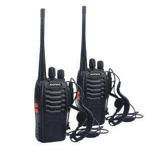 Free shipping 2pcs/lot baofeng walkie takie BF-888S UHF 400-470MHz ham amateur radio baofeng 888s VOX radio with Earpiece