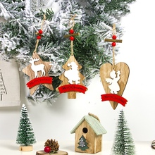 Get more info on the 2019 Christmas Wooden Piece Wood Tags Xmas Tree Pendants Drop Ornaments Holiday Party  Hanging Decoration SuppliesCM