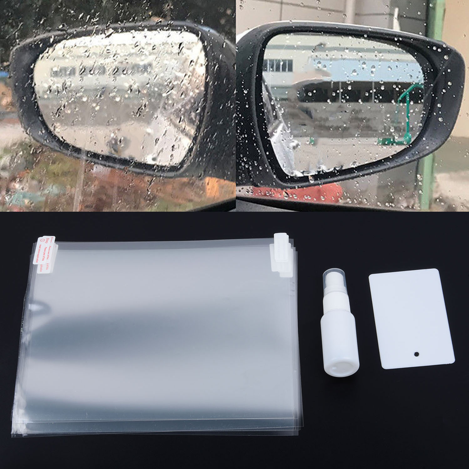 2018 NEW 2Pc Car Rain Anti-fog Rear View Mirror Window Protection Nano Coating