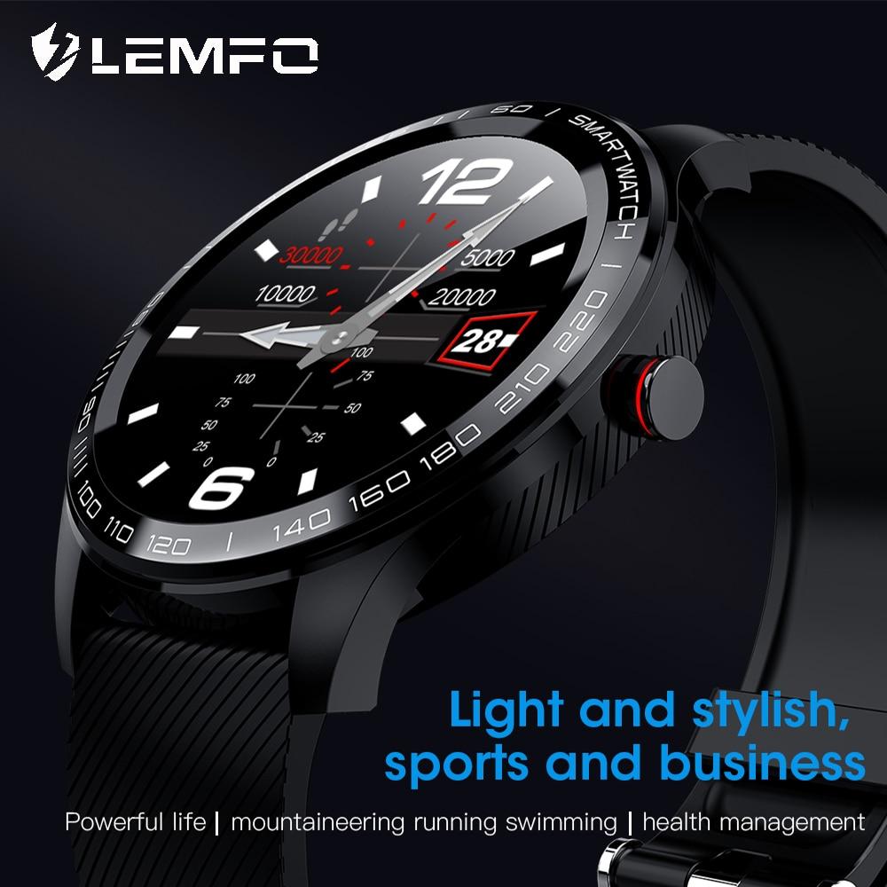 LEMFO Smart Watch ECG Bluetooth Heart Rate Read Notifications Full Touch Screen IP68 Waterproof Sports Smart Watch Men Women(China)