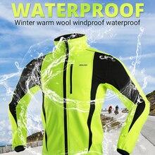 Cycling Jacket Jersey Road-Bike-Clothing MTB ARSUXEO Thermal-Fleece Waterproof Winter