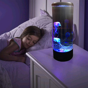 Bedside Lamp Desktop Atmosphere Color Changing Childen Table USB Powered LED Night Light Hypnotic Jellyfish Relaxing Aquarium