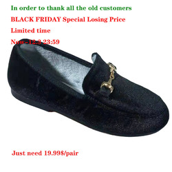 Hot Boys Girls Velvet Loafer Best Sell New 2019 Winter Warm Kids Buckle Shoes Size 21-35 Flat (Choose According To Foot Length)