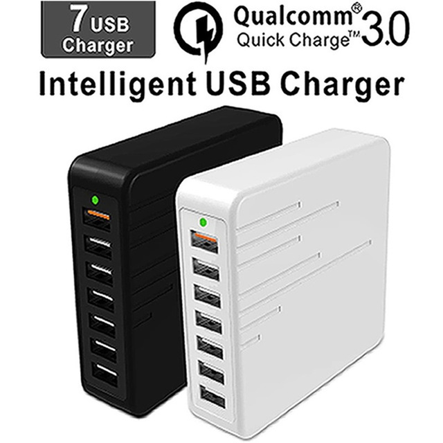 Cargador USB Multiple Charge Fast charging 7 Port Multi USB Charger Cargador USB Multiple Device Charging Chargeur Quick Charge