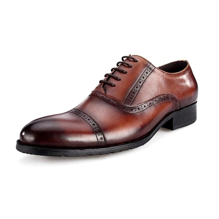 Wincheer 2019 Luxe Mannen Jurk Lederen Schoenen Plus Size Lace Up Business Casual Schoenen Mannen Formele Bruiloft platte Schoenen - 6