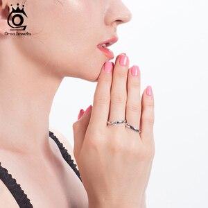 Image 5 - Orsa Jewelr Nhà Máy Bán Buôn Nam Nữ Vòng Bộ S925 Bạc Cưới Đính Hôn Giải Đơn Nhẫn Dành Cho Cặp Đôi SR196