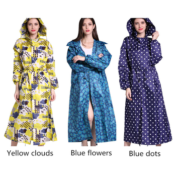 New Fashion Breathable Men And Women Long Rain Coat Poncho Ladies Waterproof Lengthen Slim Raincoat Adults Windproof Rainwear