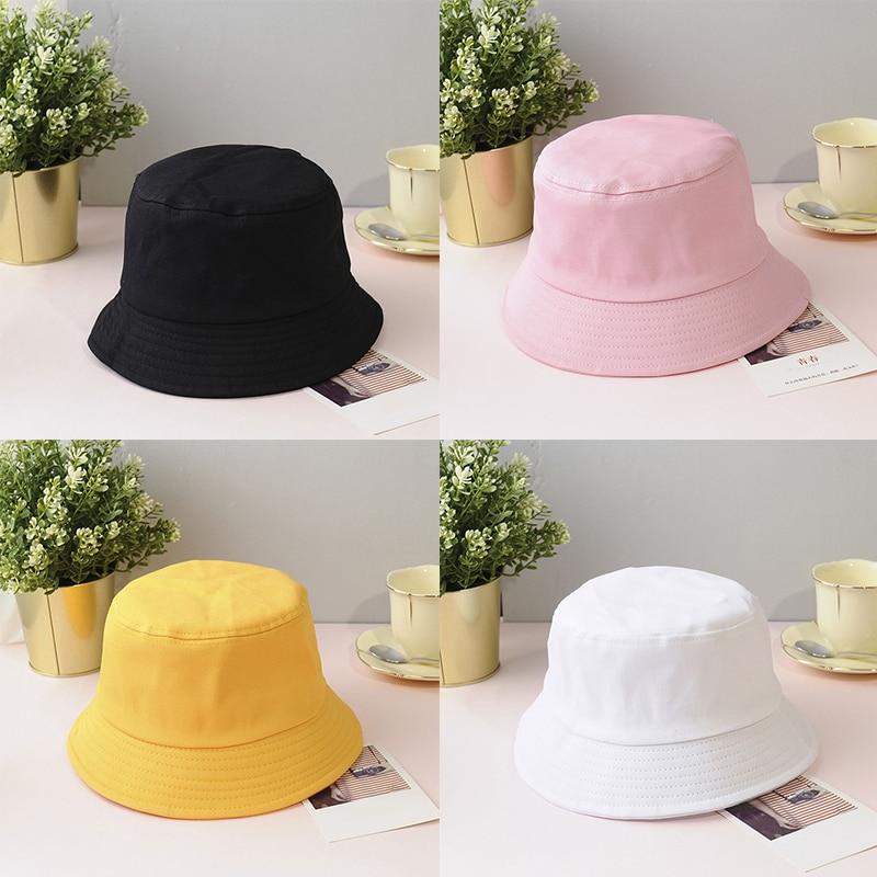 Harajuku Bucket Hat Men/Women K Pop Jung Kook V Bob Outdoor Beach Sun Hat Black White Yellow Fashion Fishing Fisherman Hat