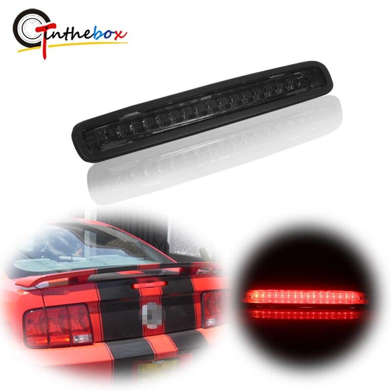 Gtinthebox 1PC Super Helle Geraucht/Rot Objektiv Rot LED Dritte 3rd Bremse Licht Für 2005-2009 Ford mustang Schwanz Licht Bremslicht 12V