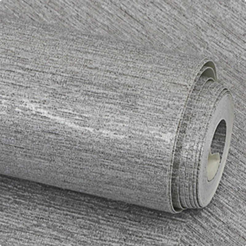 현대 미니멀리스트 패션 솔리드 컬러 벽 종이 일반 실버 질감 실버 베이지 그레이 방수 벽지 롤 홈 장식