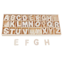 156 Pack Unfinished Houten Alfabet Letters, Decoratieve Kartonnen Alfabet Voor Kinderen, Ambachten, Home Decor, Diy Projecten(China)