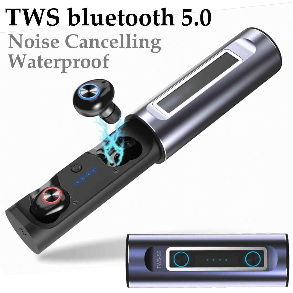 LEORY S9 真 TWS イヤホンワイヤレス bluetooth 5.0 ステレオノイズキャンセル防水二国間通話で Earbus 耳ハンズフリー