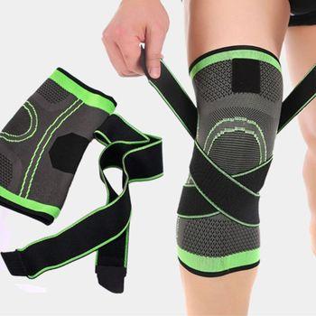 Mężczyźni kobiety wsparcie kolana rękawy uciskowe ból stawów zapalenie stawów Relief Running Fitness elastyczna opaska Brace ochraniacze na kolana z paskiem tanie i dobre opinie Uniwersalny CN (pochodzenie) Nylon 6EE702351-C-2XL