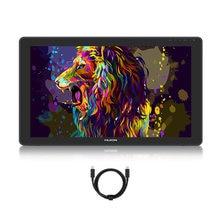 Huion 21.5 polegadas kamvas 22 plus/kamvas 22 tablet gráfico anti-reflexo gravado vidro caneta tablet monitor 140% srgb suporte android