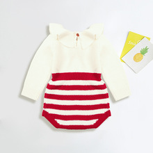 Knitted Baby Clothes Newborn 100% Cotton Girl Boys Romper Sleeveless Infantil Infant Jumpsuit Overalls