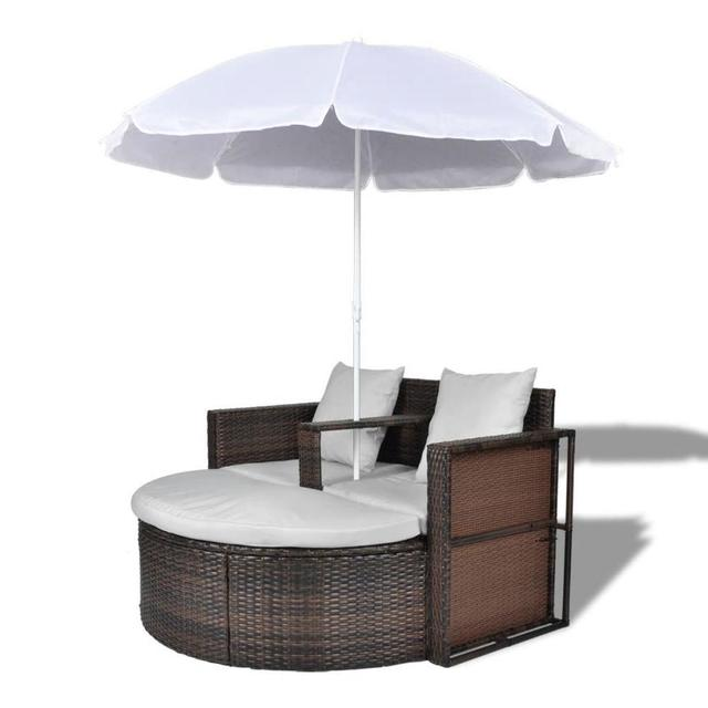 Outdoor Patio Canopy Cushioned Daybed  2