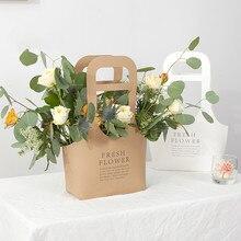 Упаковка для рождественских подарков пакеты с ручками на свадьбу, день рождения, подарок крафт мешки, бумажные пакеты для хранения продуктов