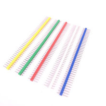 10pcs/lot 2.54mm Green + White + Red + Yellow + Blue Single Row Male 1X40 1*40 Pin Header Strip ROHS CGKCH090