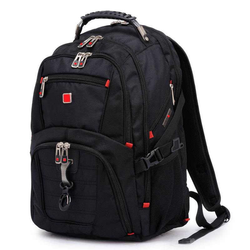 Suisse multifonctionnel 15 pouces sac à dos pour ordinateur portable hommes USB charge étanche voyage femmes sac à dos mâle cartable randonnée sac de voyage