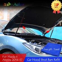 עבור מאזדה 6 Mazda6 Atenza GJ/GL 2012 2020 רכב קדמי הוד מנוע כיסוי מוט הידראולי יתד אביב הלם ברים סוגר רכב סטיילינג