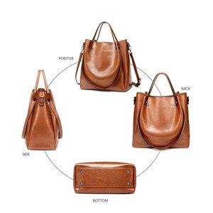 Image 4 - Kadın rahat çanta kadın Tote omuz çantası PU deri bayanlar kova çanta Messenger çanta yumuşak küçük alışveriş Crossbody çanta