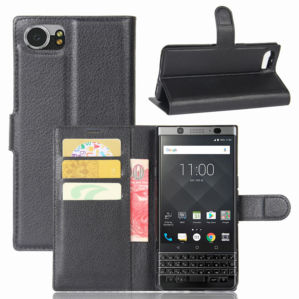 For BlackBerry Keytwo Keyone Priv Luxury Wallet Flip PU Leather Card Holder Back Cover Protective Case For BlackBerry Motion(China)