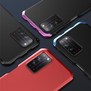Odporny na wstrząsy metalowy pancerz Honor X10 skrzynka dla Huawei Honor X10 skrzynka luksusowy aluminium + PC pełna pokrywa Coque dla Huawei Honor X10 Funda