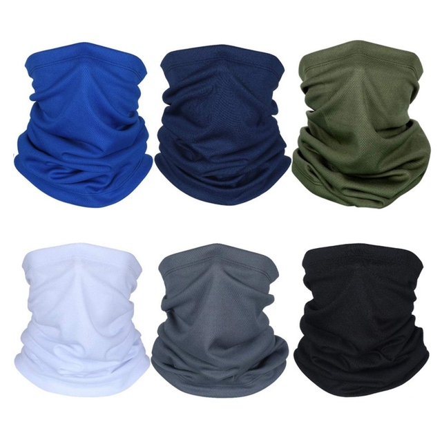 Cycling Neck Kerchief Scarf Outdoor Sports Riding Face Mask Skull Bandanas Halloween Cosplay Scarves Wicking Seamless 2