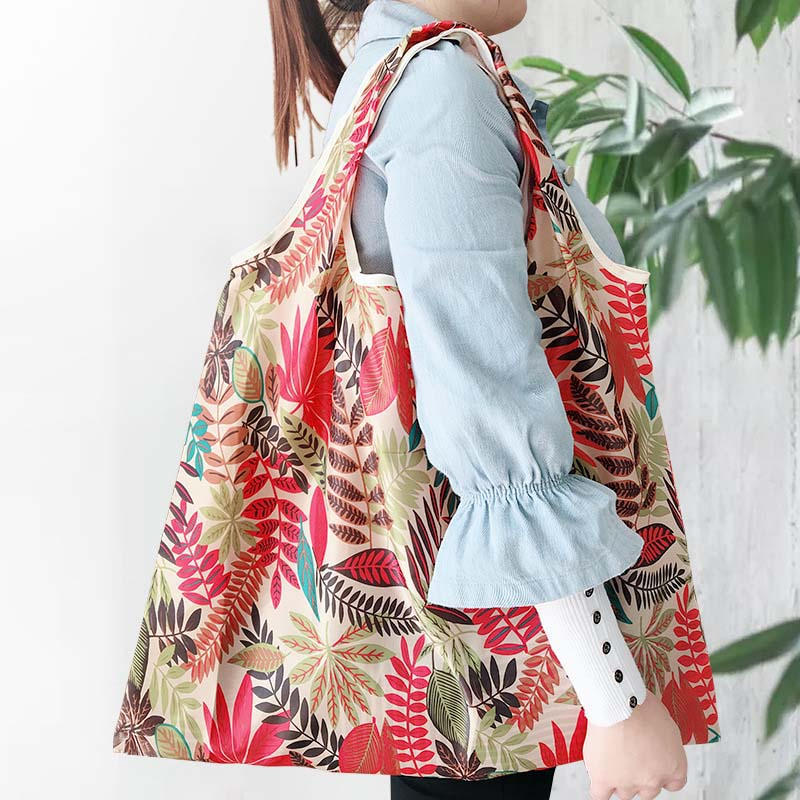 Foldable Big Size Thick <font><b>Magic</b></font> style Nylon Large Tote ECO Reusable Polyester Portable Shoulder Handbag <font><b>Folding</b></font> Pouch <font><b>Shopping</b></font> <font><b>Bag</b></font> image