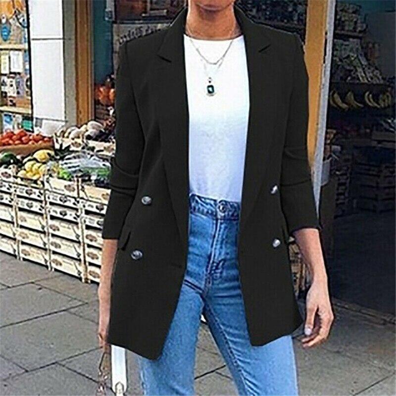 2020 New Women's Turtleneck Jacket, Office, Color Long Women's Jacket