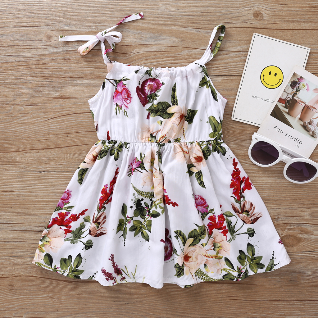 Goodtrade8 Toddler Baby Girl Solid Floral Long Sleeve Ruffle Lace Princess Casual Dresses