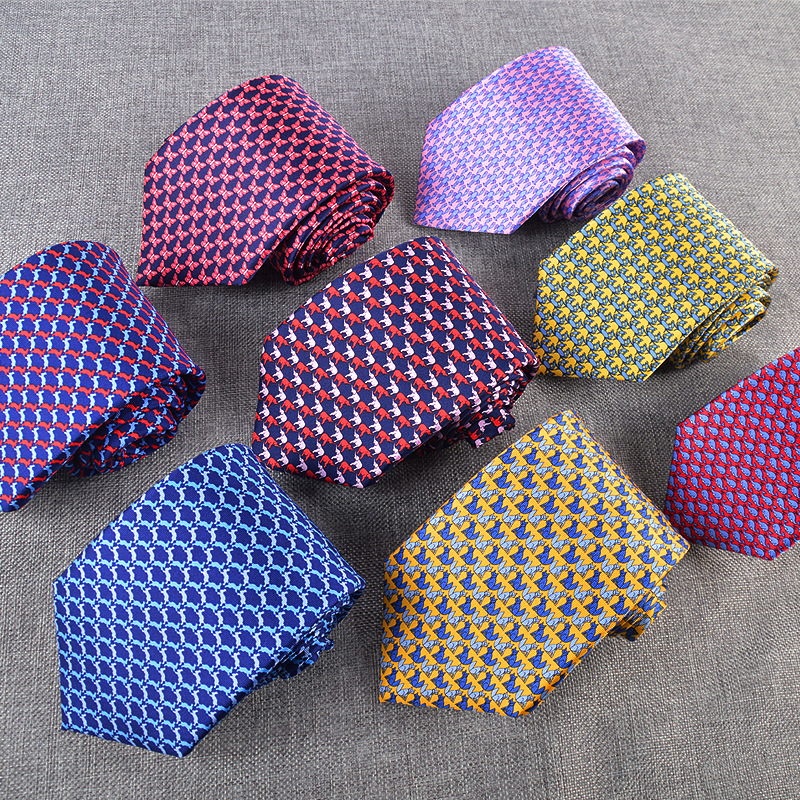 8.5CM 100% Real Natural Silk Mens Ties  Animal Printed Neck Ties For Men Neckties For Wedding Party Mens Ties  Gift Accessory