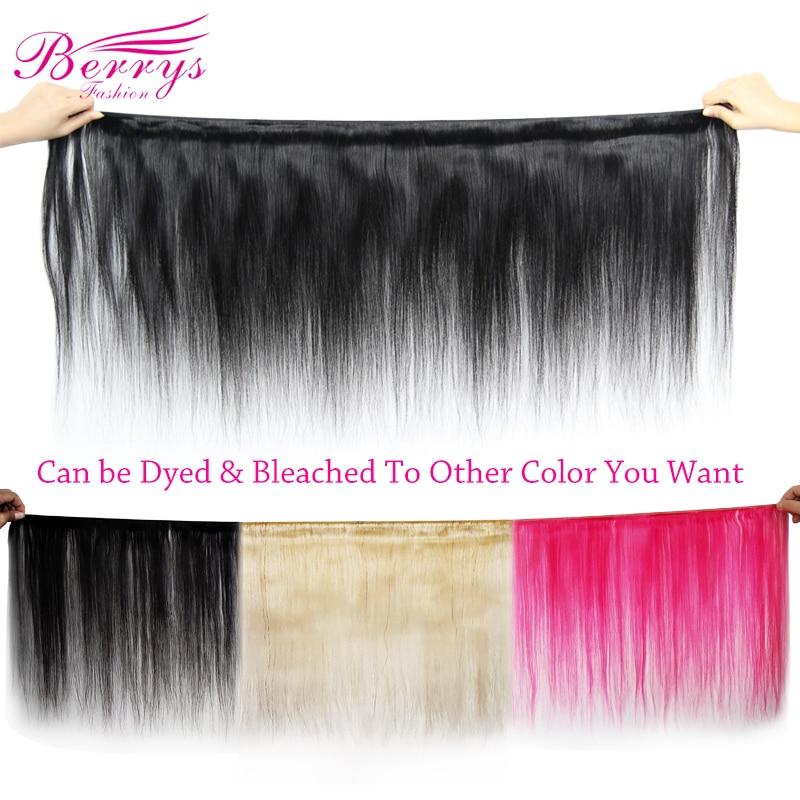 [Berrys Fashion]Brazilian 10A Grade Virgin Hair Straight 100% Unprocessed Human Hair Bundles Raw Weave 1/3/4 PCS Hair Extensions 2