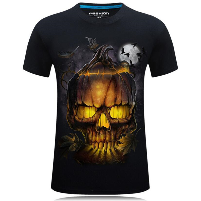 Nice Summer Style 3D T shirts Men Skull Printed Hip Hop Boys Tops Casual Short Sleeve O Neck T Shirt Tees Male Camiseta 5XL 7XL