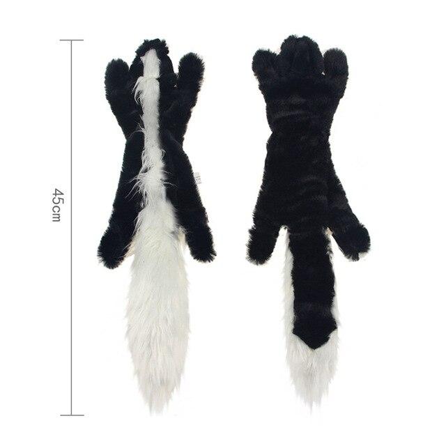 Cute Plush Squeaky Pet Toys-  - Rabbit - Squirrel - Skunk - Fox 4