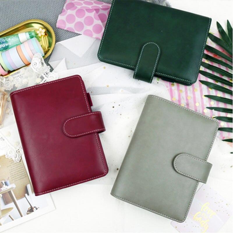 Cute A6 A5 Bullet Journal Binder Notebook Spiral Diary Agenda Planner Organizer Notepad Kawaii 6 Rings Note Book Daily Handbook