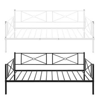 Sofa Bed Modern Single Platform Beds Metal Daybed Frame With Steel Slats Bedroom Furniture