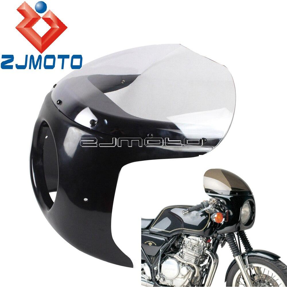 Beige Copertura Carenatura Sedile Passeggero Per Moto Cafe Racer