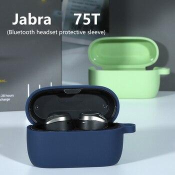 Funda protectora de silicona blanda para Jabra Elite Active 75T, auriculares inalámbricos con estuche de almacenamiento de auriculares