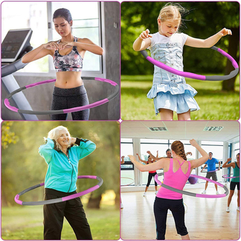 8 Sections Detachable Hola Hoop Fitness Circle Weight Exercise Hoop Adjustable Thin Waist Trainer Massage Hoop Sport Eqiutpment 6