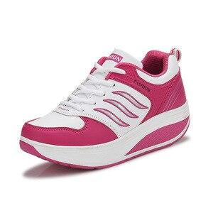 Image 3 - COWCOM chaussures de sport en cuir pour femmes, chaussures de sport et automne CYL 875