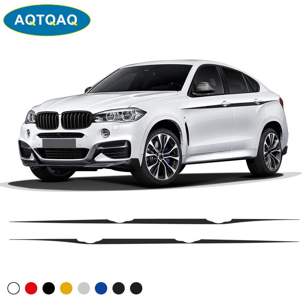 1Set Auto Waist Line Car Sticker Vinyl Racing Stripe Decal for BMW X Series SUV X5 X6 Sport Car Accessories