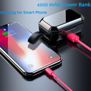 Image 4 - G02 TWS 5.0 Bluetooth 9D סטריאו אוזניות אלחוטי אוזניות IPX7 עמיד למים אוזניות 4000mAh LED תצוגה חכם כוח בנק