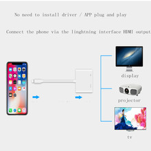 Цифровой автомобильный тв-тюнер для домашнего кинотеатра с зеркальной связью, поддержка Lightning-hdmi 4k apple play iPhone X/iPhone 8 wifi+ адаптер 3g