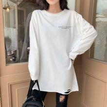 Хлопковая Классическая модная свободная футболка в Корейском
