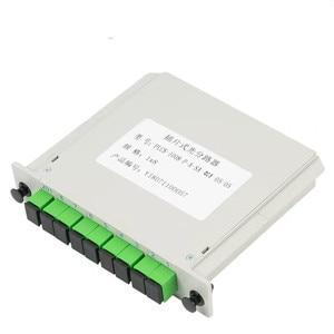 Image 4 - 10pcs/lot Cassette Insertion Type Fiber Optic Splitter Box 1x8 SC/APC